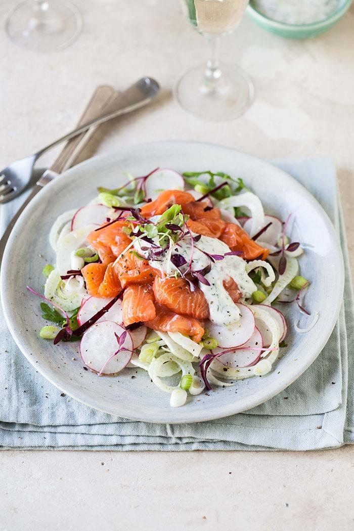 salmon salad beet root