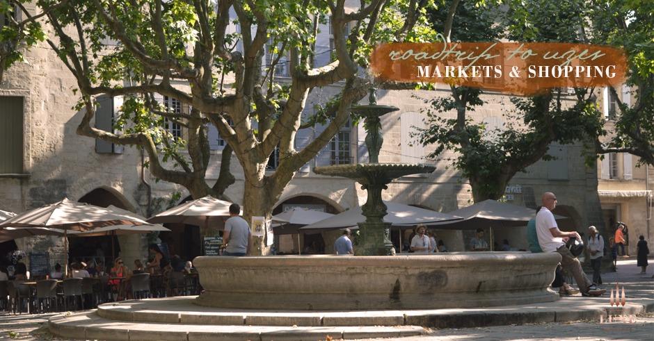 Uzès market town gard