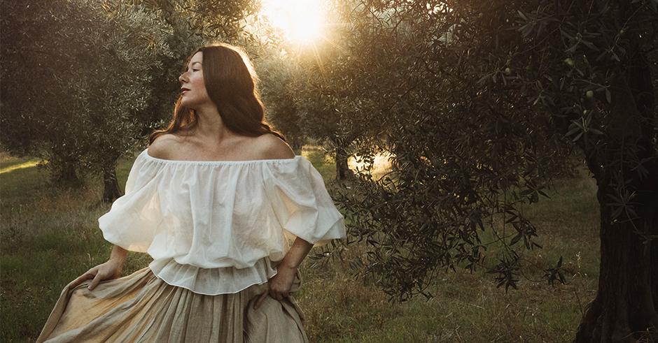 luxeprovence jamie beck linen skirt silk