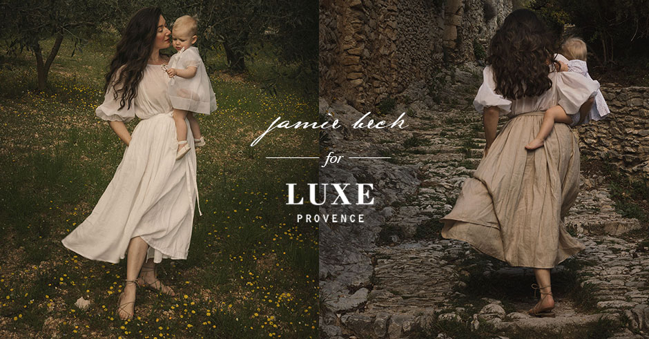 jamie beck for luxe provence linen skirt tablier